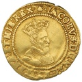 1606-07 James I Britain Crown mm Escallop Gold Coin
