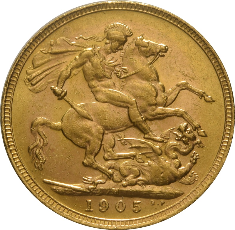 1905 Gold Sovereign - King Edward VII - M