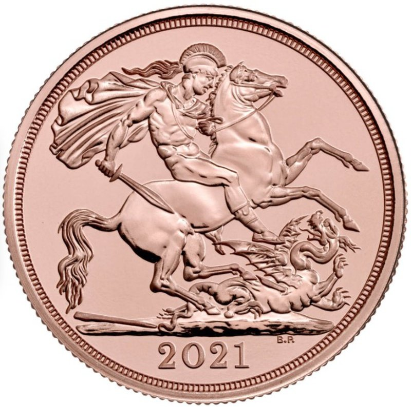 2021 £2 Two Pound Gold Coin (Double Sovereign)
