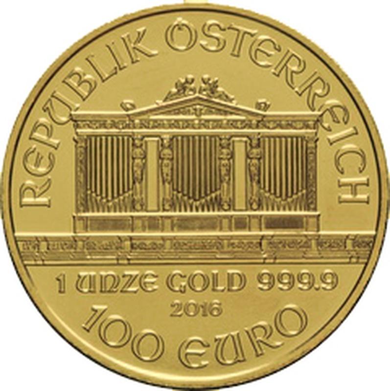 2016 1oz Austrian Gold Philharmonic Coin