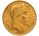 1867 20 French Francs - Napoleon III Laureate Head - BB