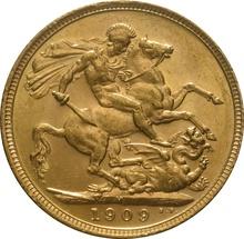 1909 Gold Sovereign - King Edward VII - M
