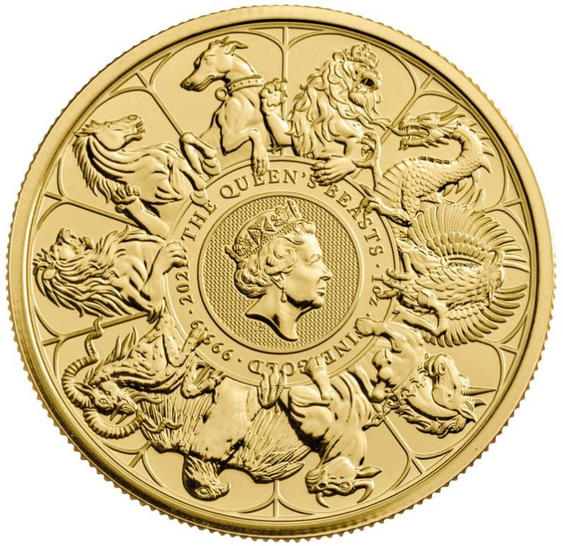 2021 Queen's Beast Completer 1oz Gold Coin