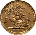 2001 Gold Half Sovereign Elizabeth II Fourth Head