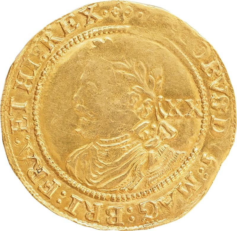 James I Gold Laurel Trefoil