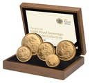 2011 Gold Proof Sovereign Five Coin Set Boxed