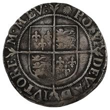 1584-6 Queen Elizabeth I  Hammered Silver Shilling - mm Escallop