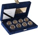 Double Gold Proof 2004 £1 One Pound Pattern Set Heraldic Beasts and 2003 Bridges Boxed