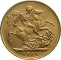 1904 Gold Sovereign - King Edward VII - M