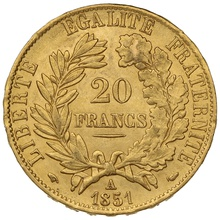 1851 20 French Francs - Ceres