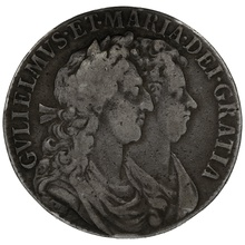 1689 William and Mary Silver Halfcrown