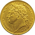 1821 Gold Sovereign - George IV Laureate Head