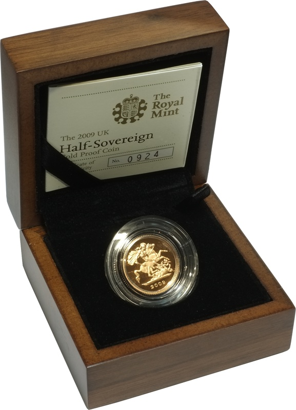 Gold Proof 2009 Half Sovereign Boxed