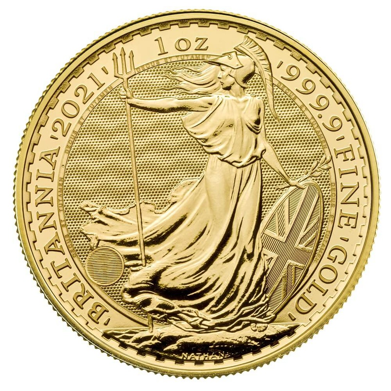 Tube of 10 x 2021 1oz Gold Britannias