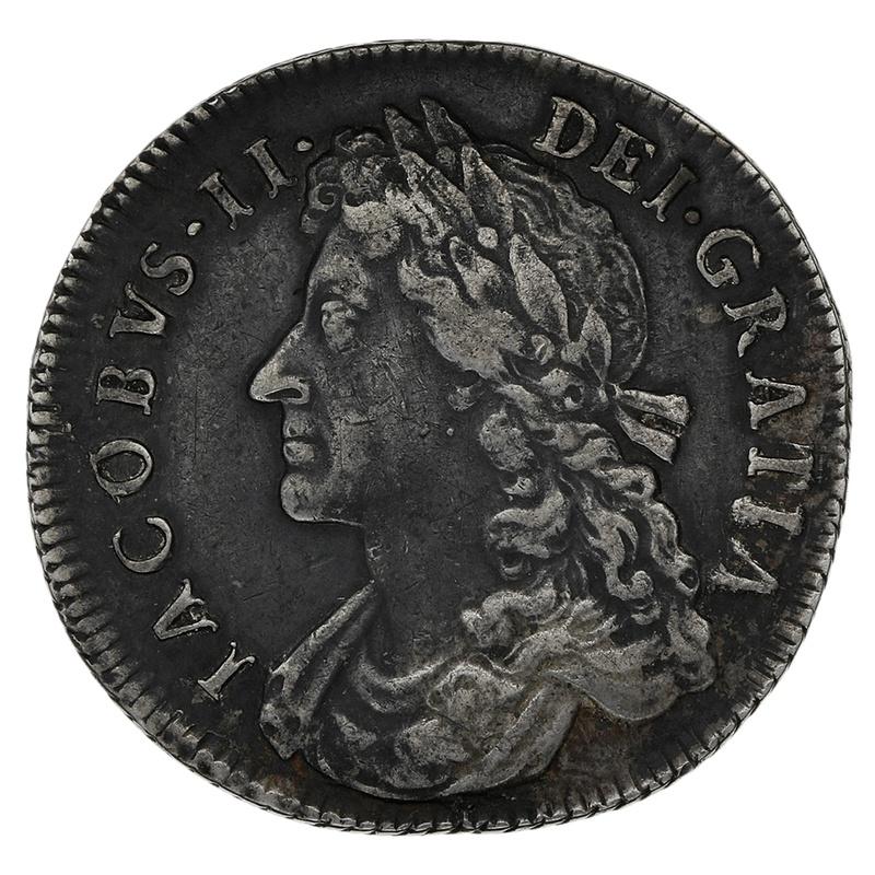 1685 James II Silver Shilling