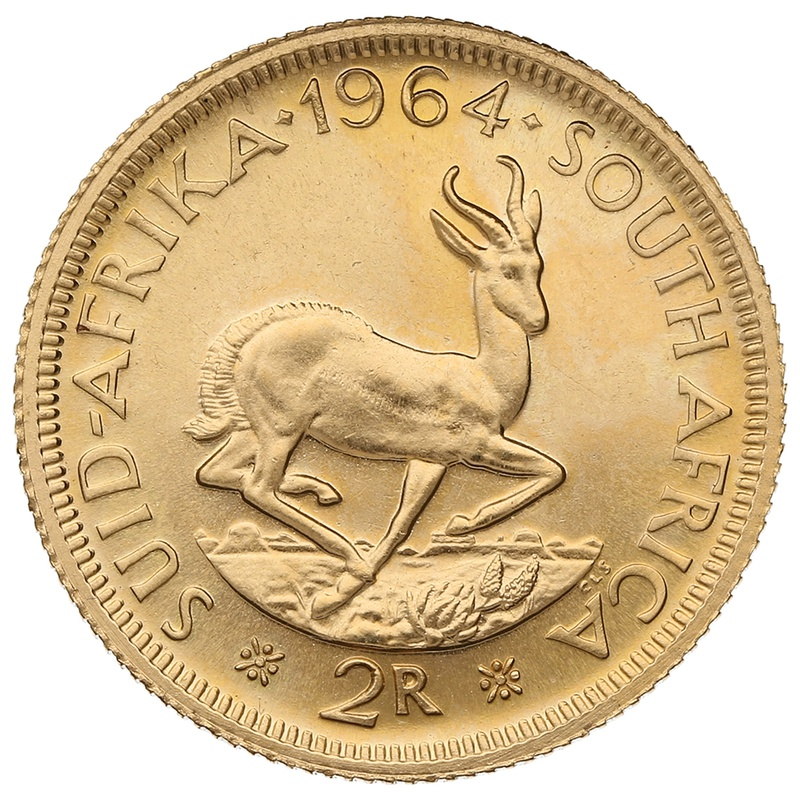 1964 2R 2 Rand coin South Africa