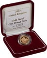 Gold Proof 2004 £1 One Pound Forth Bridge Boxed