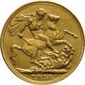 1923 Gold Sovereign - King George V - M