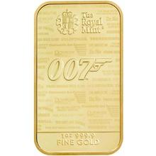 1oz James Bond 007 Gold Bar