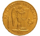 1877 20 French Francs - Guardian Angel - A