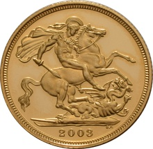 Gold Proof 2003 Sovereign Boxed