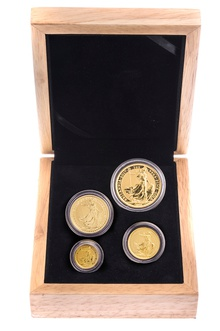 2017 Britannia Bullion 4-Coin Set Gift Boxed