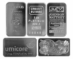1 Ounce Platinum Bars