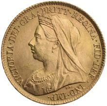 Gold Half Sovereign Victoria Old Head