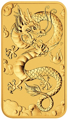 2019 1oz Dragon Rectangular Gold Bar
