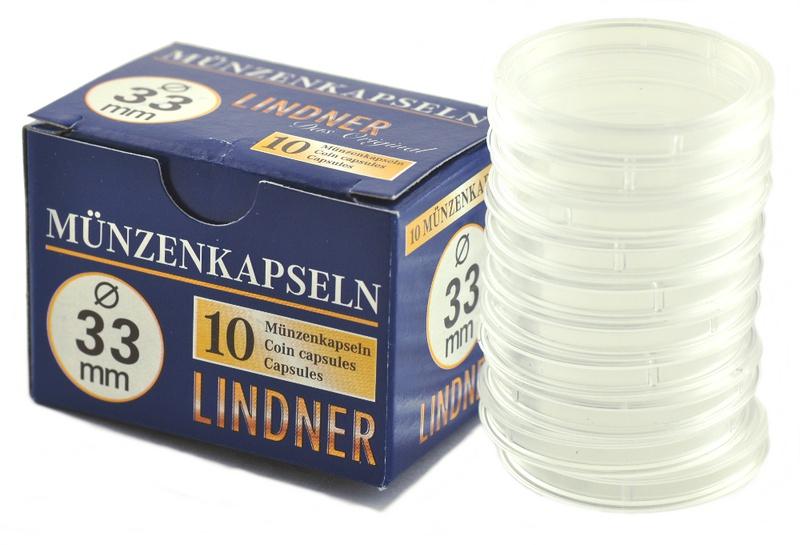 Lindner 33mm 1oz Gold Coin Capsules (10 Box)