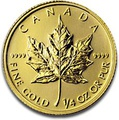 2012 Quarter Ounce Gold Canadian Maple