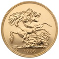 1986 - Gold £5 Brilliant Uncirculated Coin