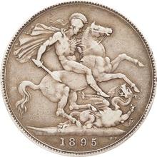 1895 Victoria Old Head Silver Crown