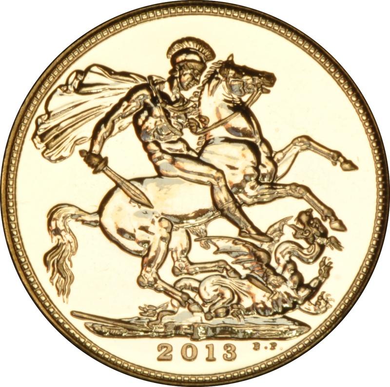 2013 Gold Sovereign - Elizabeth II Fourth Head - India