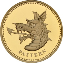 £1 One Pound Proof Gold Coin - Pattern Beast - Dragon