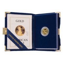 1988 Proof Tenth Ounce Eagle Gold Coin Boxed
