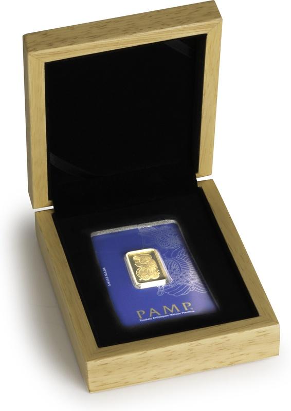 PAMP 1/2oz Gold Bar Gift Boxed