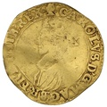 1626-7 Charles I Hammered Gold Double-Crown mm Blackamoor's Head