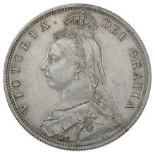 1887 Queen Victoria Silver Milled Halfcrown - Good Extremely Fine