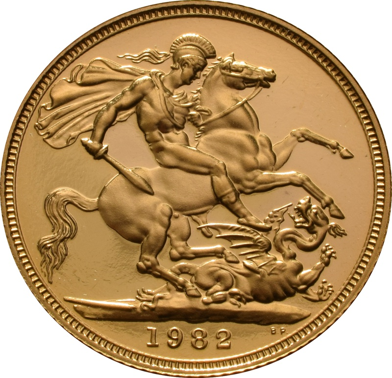 1982 Gold Sovereign - Elizabeth II Decimal Head Proof