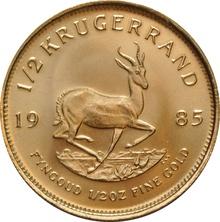1985 Half Ounce Krugerrand Gold Coin