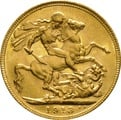 1913 Gold Sovereign - King George V - M