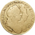 1689 William and Mary Gold Guinea - Fine