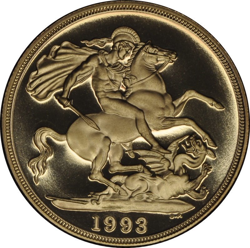 1993 £2 Two Pound Proof Gold Coin (Double Sovereign)