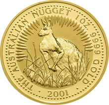 2001 1oz Gold Australian Nugget