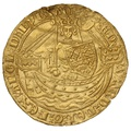 1361-69 Edward III Gold Half Noble London Mint