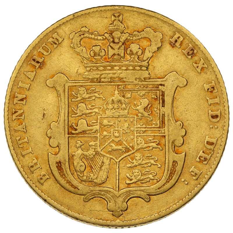 1826 Gold Sovereign - George IV Bare Head
