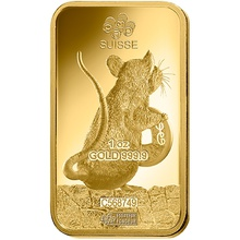 PAMP 1oz 2020 Year of the Rat Gold Bar