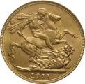 1911 Gold Sovereign - King George V - P