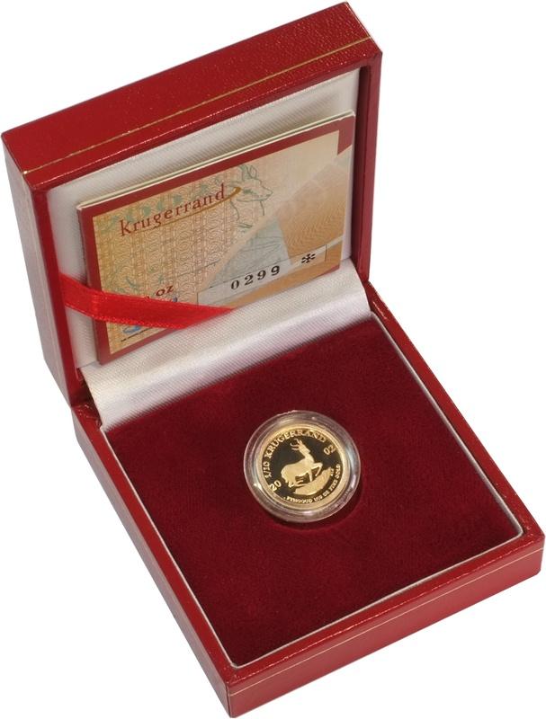 2002 1/10oz Gold Proof Krugerrand - Boxed
